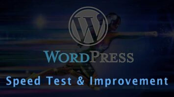 WordPress Blog Speed scores, improvement plugins