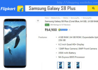 Samsung Galaxy S8 Plus price in India, Galaxy S8 Plus specifications, shopping offers, launch offers s8 plus flipkart online shopping India, s8 5GB RAM best buy price, Galaxy S8 Plus deals online 6GB RAM, Galaxy S8 Plus camera details,battery backup,new features,samsung s8 plus amazon india