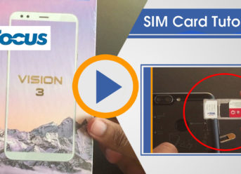 How to insert Sim card in Infocus Vision 3 Tutorial