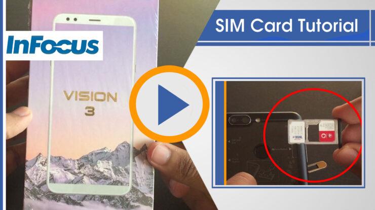 How to insert Sim card in Infocus Vision 3 Tutorial