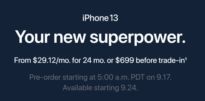 iPhone 13  - Pre-Order Starting Date, retails stores, buy iphone 13 online stores